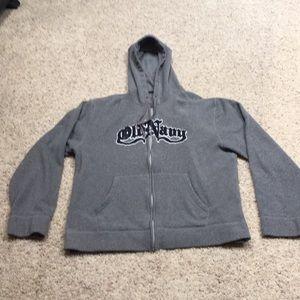 🧔🏻men's XL Old Navy fleece zip up hoodie.